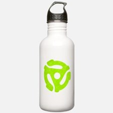 Lime Green Distressed 45 RPM Adapter Water Bottle