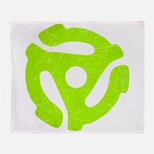 Lime Green Distressed 45 RPM Adapter Stadium Blank