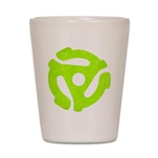 Lime Green Distressed 45 RPM Adapter Shot Glass