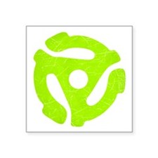 Lime Green Distressed 45 RPM Adapter Square Sticke