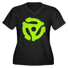 Lime Green Distressed 45 RPM Adapter Women's Dark