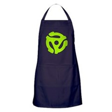 Lime Green Distressed 45 RPM Adapter Dark Apron