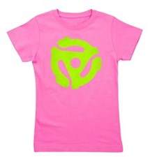 Lime Green Distressed 45 RPM Adapter Girl's Dark T