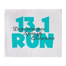 13.1 Run Aqua Throw Blanket
