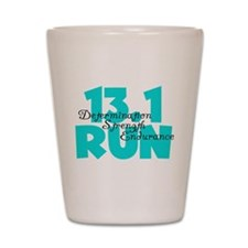 13.1 Run Aqua Shot Glass