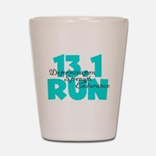 13.1 Run Aqua Shot Glass