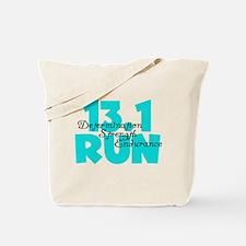 13.1 Run Aqua Tote Bag