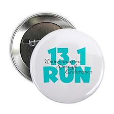 """13.1 Run Aqua 2.25"""" Button (10 pack)"""