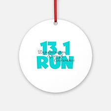 13.1 Run Aqua Ornament (Round)