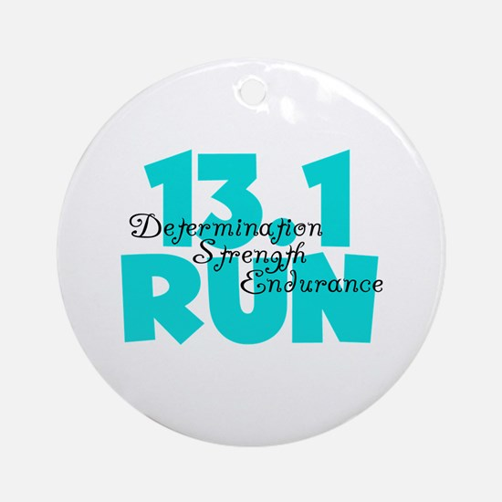 13.1 Run Aqua Ornament (Round)