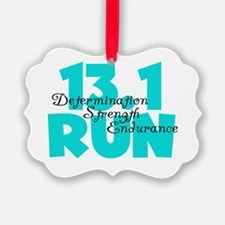 13.1 Run Aqua Ornament