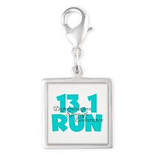 13.1 Run Aqua Silver Square Charm
