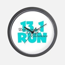 13.1 Run Aqua Wall Clock