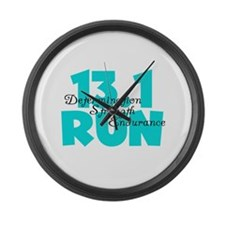 13.1 Run Aqua Large Wall Clock