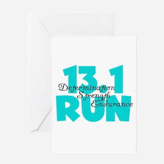 13.1 Run Aqua Greeting Card