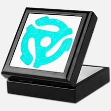 Turquoise Distressed 45 RPM Adapter Keepsake Box