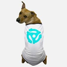 Turquoise Distressed 45 RPM Adapter Dog T-Shirt