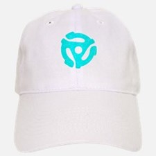 Turquoise Distressed 45 RPM Adapter Baseball Baseball Cap