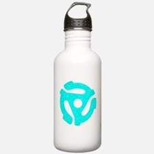 Turquoise Distressed 45 RPM Adapter Water Bottle