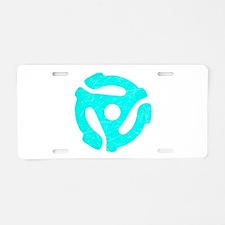Turquoise Distressed 45 RPM Adapter Aluminum Licen