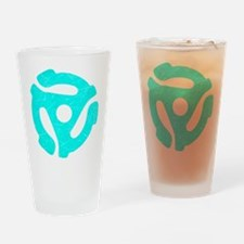Turquoise Distressed 45 RPM Adapter Drinking Glass