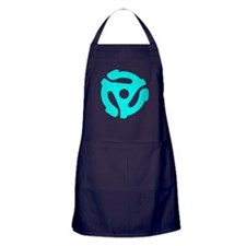Turquoise Distressed 45 RPM Adapter Dark Apron
