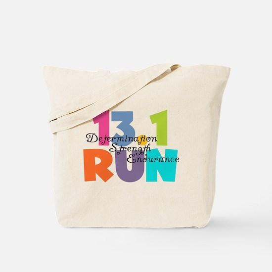 13.1 Run Multi-Colors Tote Bag