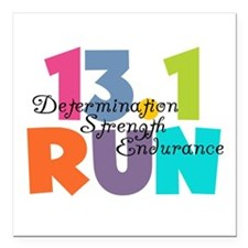 "13.1 Run Multi-Colors Square Car Magnet 3"" x 3"""