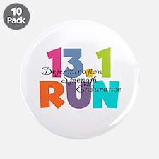 "13.1 Run Multi-Colors 3.5"" Button (10 pack)"