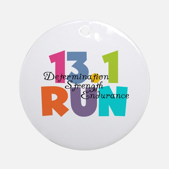 13.1 Run Multi-Colors Ornament (Round)