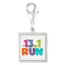 13.1 Run Multi-Colors Silver Square Charm