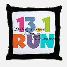 13.1 Run Multi-Colors Throw Pillow