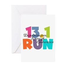 13.1 Run Multi-Colors Greeting Card