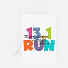 13.1 Run Multi-Colors Greeting Card