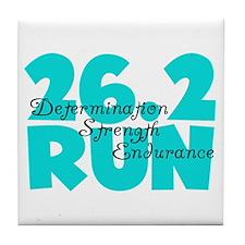 26.2 Run Aqua Tile Coaster