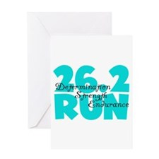 26.2 Run Aqua Greeting Card