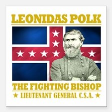 "The Fighting Bishop.png Square Car Magnet 3"" x 3"""
