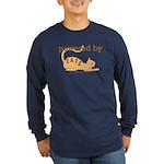Powered By Cats Long Sleeve Dark T-Shirt