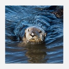 Alaska Sea Otter Tile Coaster