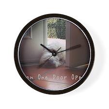 When One Door Opens Wall Clock
