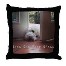 When One Door Opens Throw Pillow