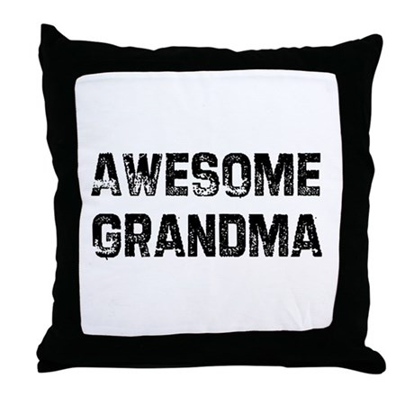 Awesome Grandma Throw Pillow