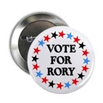 """Vote For Rory 2.25"""" Button (10 pack)"""