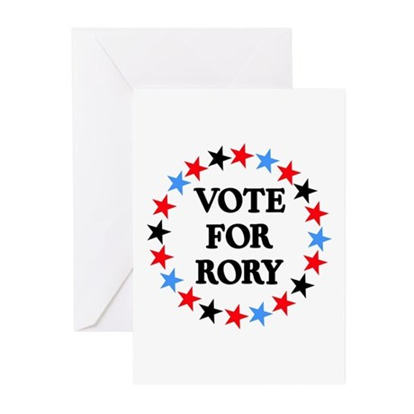 Vote For Rory Greeting Cards (Pk of 10)