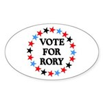 Vote For Rory Oval Sticker