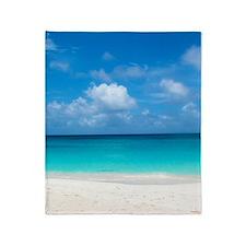 Tropical Beach View Cap Juluca Anguilla Throw Blan