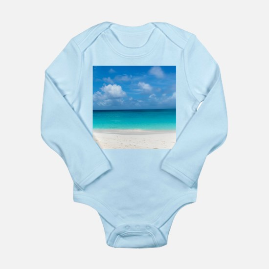 Tropical Beach View Cap Juluca Anguilla Body Suit