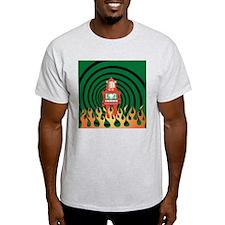 robotFireSpiral T-Shirt