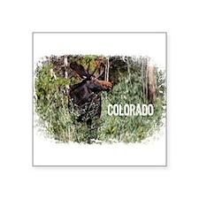 "Colorado Moose II Square Sticker 3"" x 3"""