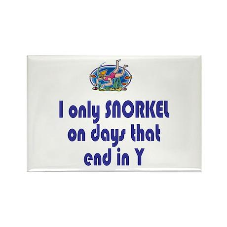 SnorkelChick Days Rectangle Magnet